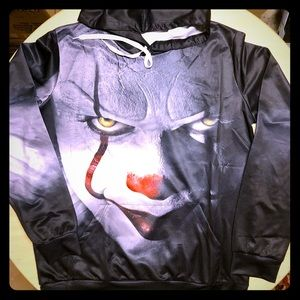 """🤡 Hoodie Halloween Men's Or Women's """"It"""" Clown"""